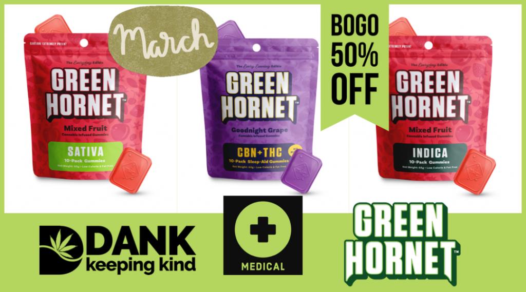 Green hornet gummies at dank dispensary