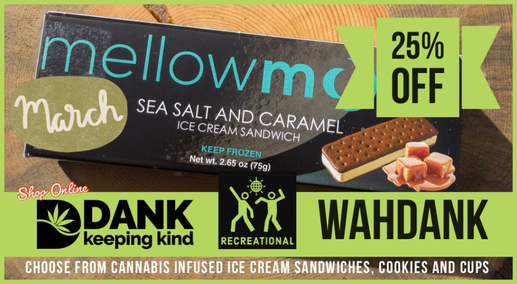 Wahdank ice cream at Dank dispensary in Denver