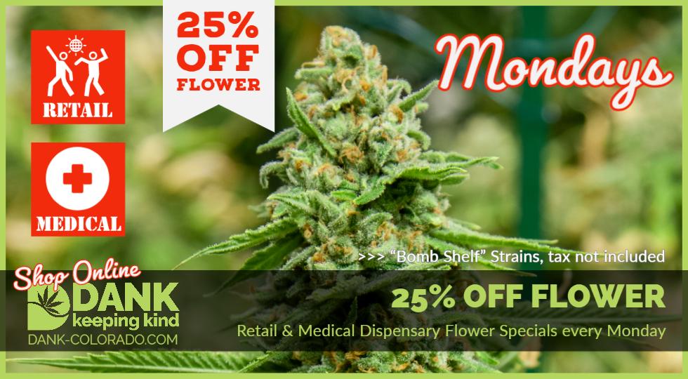 DANK Monday Special 25% OFF Bomb Shelf Flower