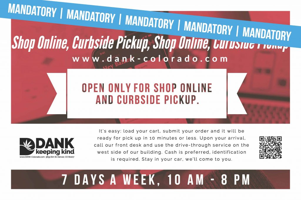 DANK Dispensary Online Shopping and Curbside Delivery