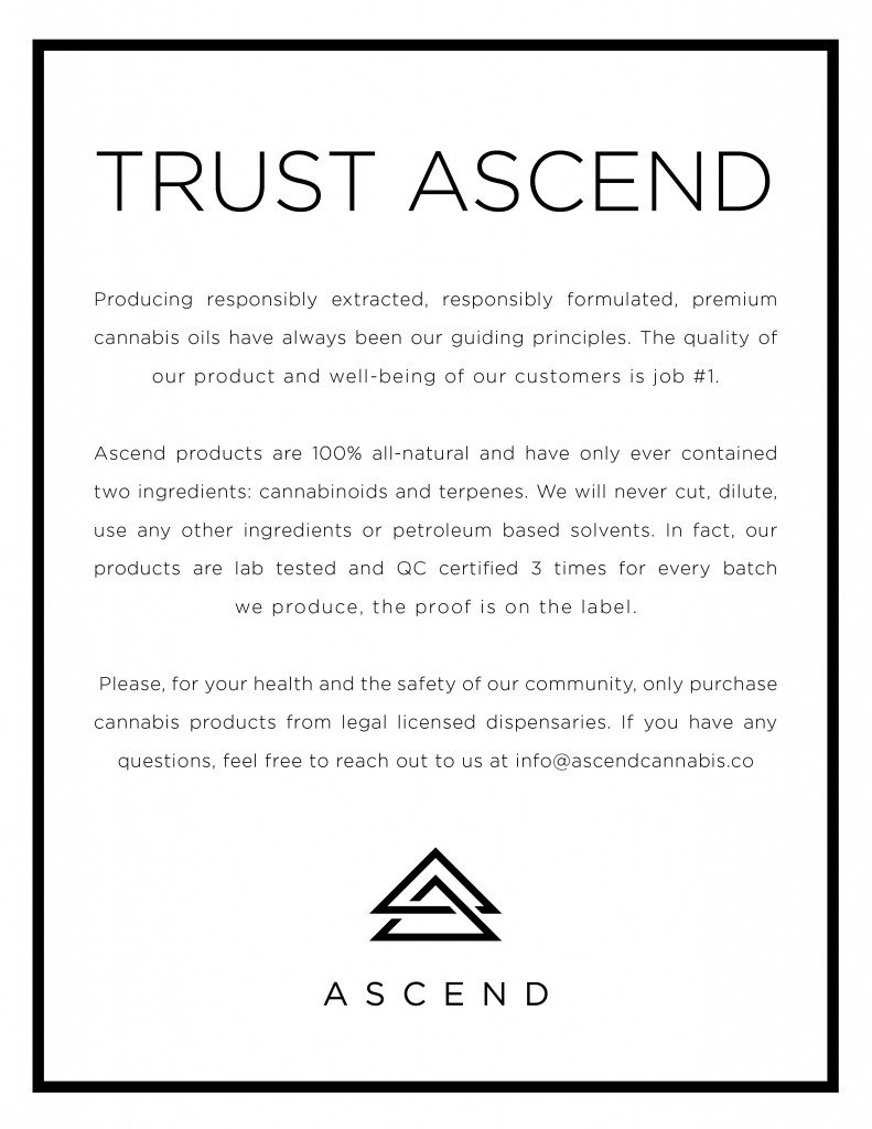 Ascend Letter of Trust about Vaping